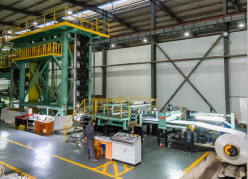 process of the color coating line