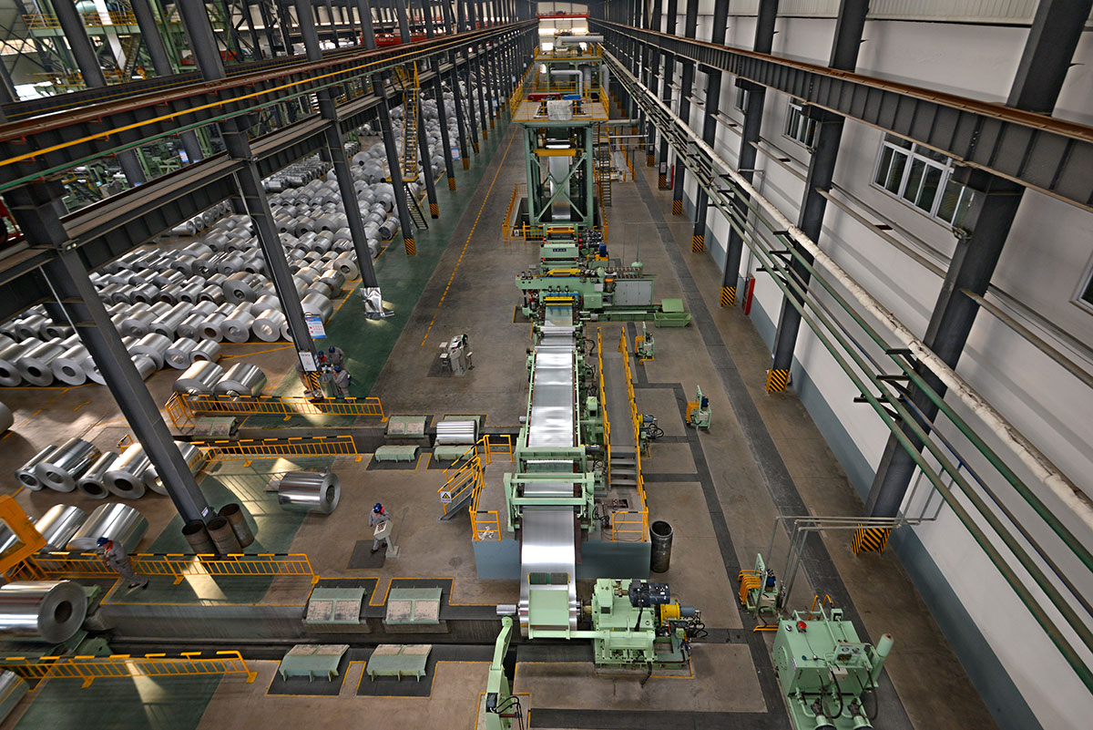 the architectural color coating production line